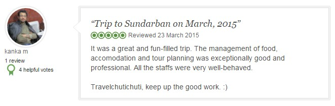 It was a great and fun-filled trip. The management of food, accomodation and tour planning was exceptionally good and professional. All the staffs were very well-behaved.  Travelchutichuti, keep up the good work. :)