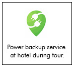 we will provide power backup service at hotel during Odisha Tour Package.